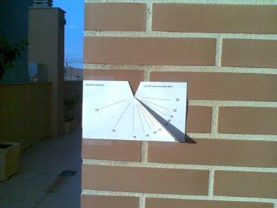 paper sundial